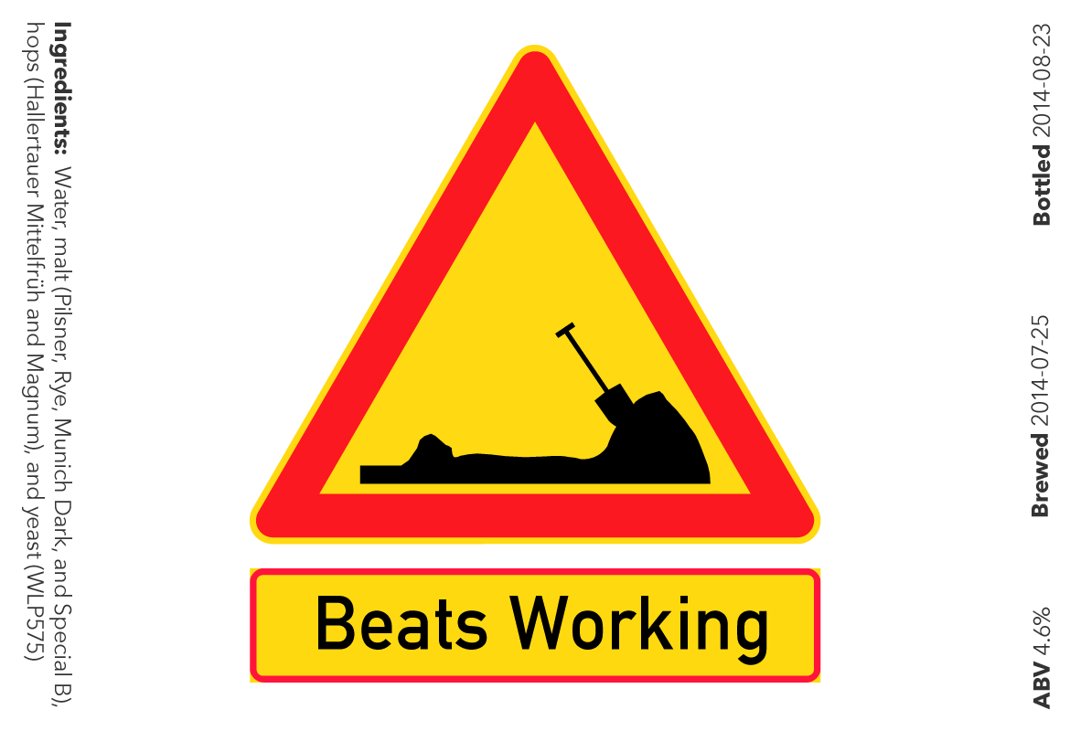 My Beats Working label.
