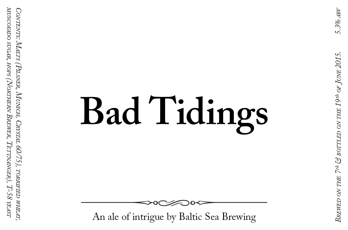 Bad Tidings label